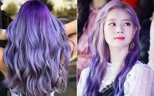 Màu tóc tím lavender