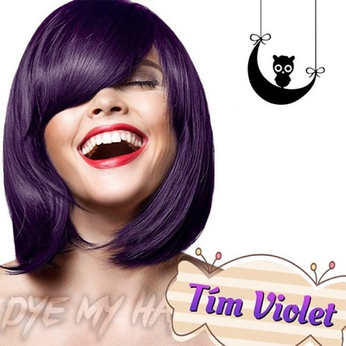 Màu tóc tím violet