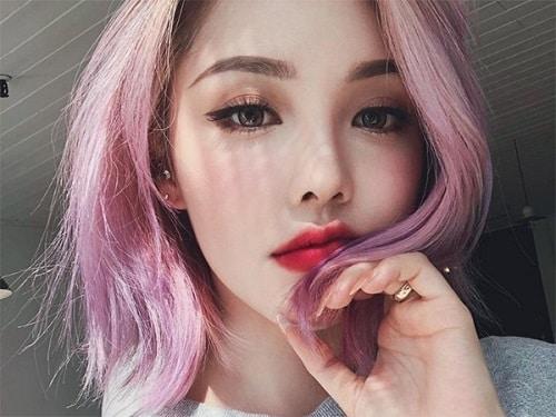 Màu tóc tím sữa